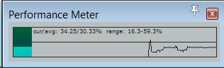 Reaper performance meter window